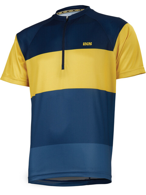 IXS Trail 6.1 Shortsleeve Jersey Men night blue/yellow